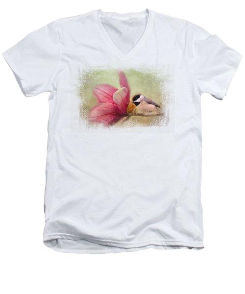 Welcome Spring Men's V-Neck T-Shirt by Jai Johnson