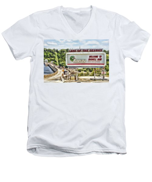 Welcome To Bagnell Dam Men's V-Neck T-Shirt