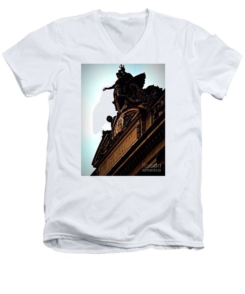 Welcome To Grand Central Men's V-Neck T-Shirt by James Aiken