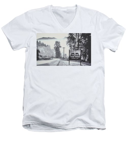 Welcome To Twin Peaks Men's V-Neck T-Shirt