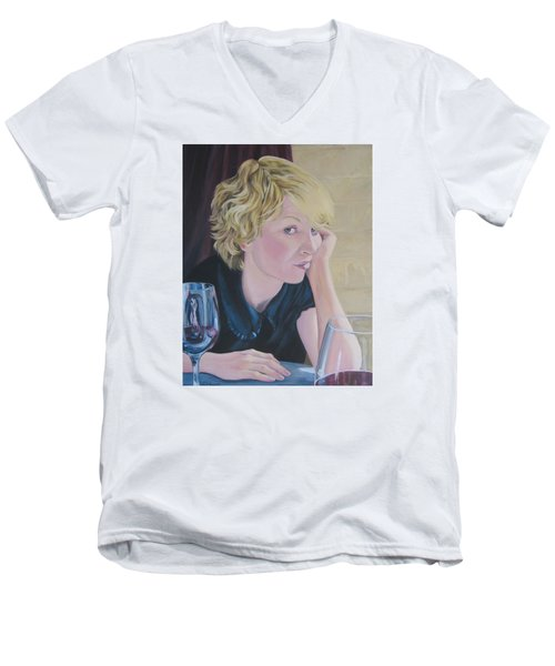 Well Men's V-Neck T-Shirt by Connie Schaertl