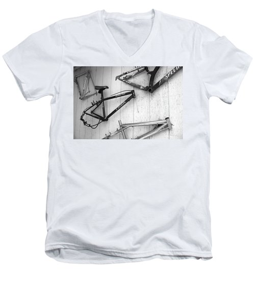 Well Worn Mountain Bike Frames  Men's V-Neck T-Shirt