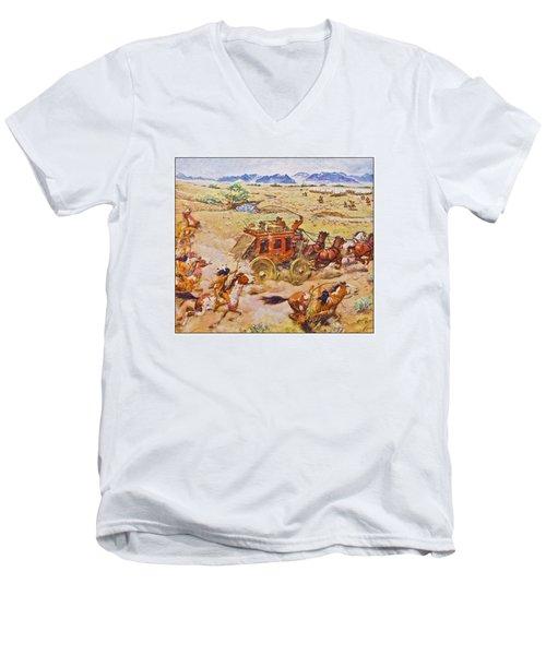 Wells Fargo Express Old Western Men's V-Neck T-Shirt