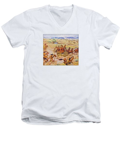 Wells Fargo Express Old Western Men's V-Neck T-Shirt