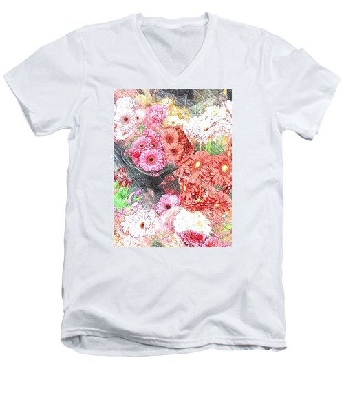 Wendy's Flowers Men's V-Neck T-Shirt by Jan Amiss Photography