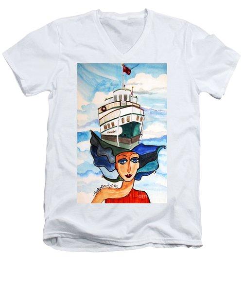 Wenonah 2  Men's V-Neck T-Shirt