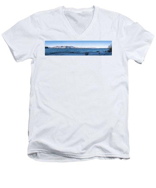 West Almanor Blue Men's V-Neck T-Shirt