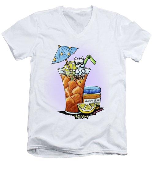 West Highland Iced Tea Men's V-Neck T-Shirt by Kim Niles