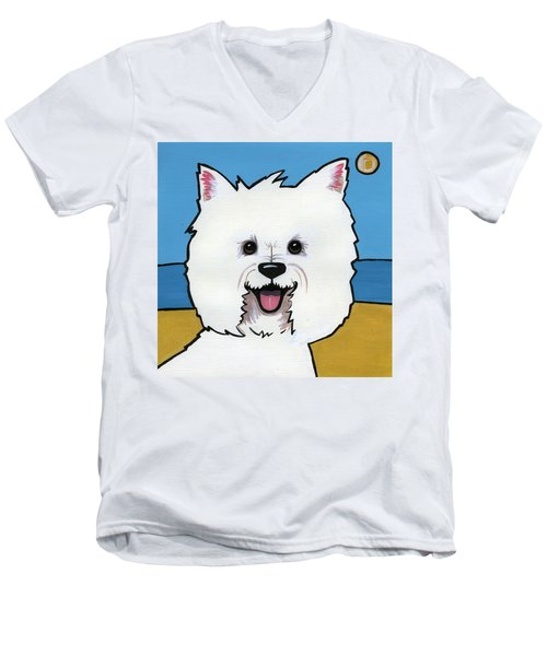West Highland Terrier Men's V-Neck T-Shirt