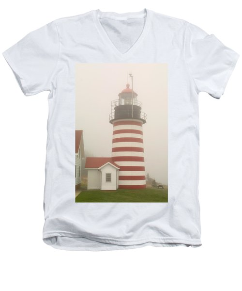 West Quody Head Lighthouse Men's V-Neck T-Shirt