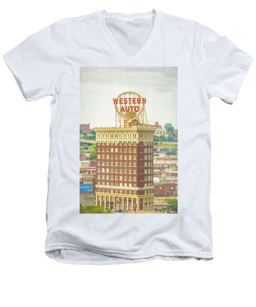 Western Auto Men's V-Neck T-Shirt