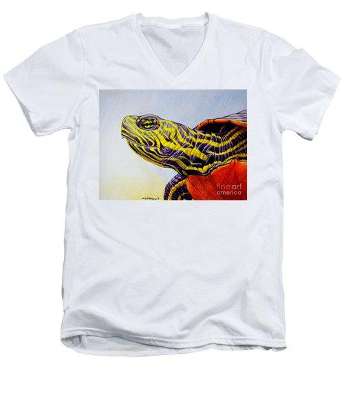 Western Painted Turtle Men's V-Neck T-Shirt