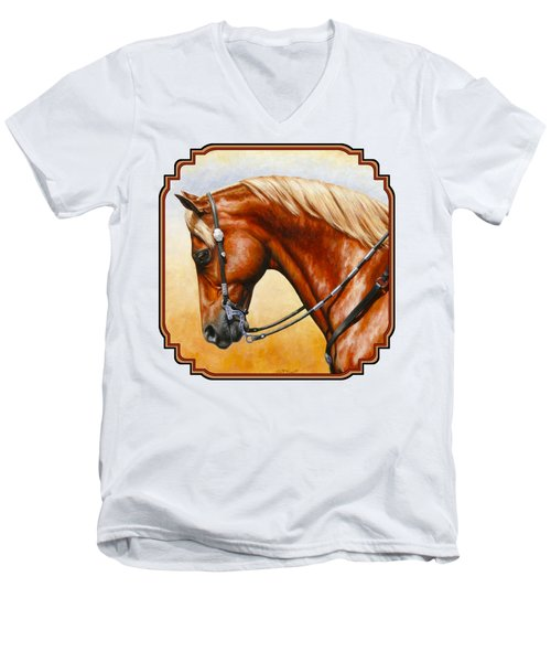 Western Pleasure Horse Phone Case Men's V-Neck T-Shirt