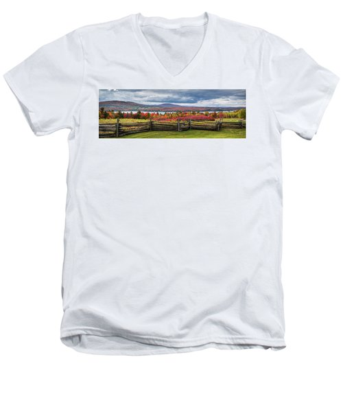 Westmore Overlook Men's V-Neck T-Shirt by Tim Kirchoff