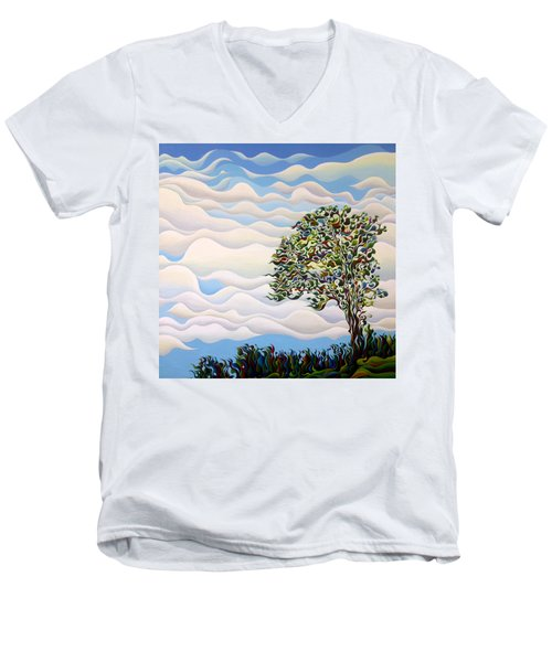 Westward Yearning Tree Men's V-Neck T-Shirt