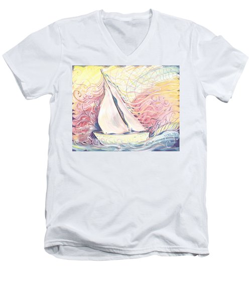 Weswater  Men's V-Neck T-Shirt