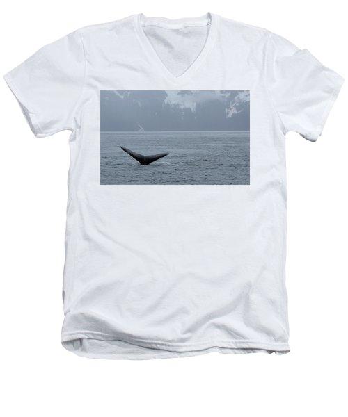 Whale Fluke Men's V-Neck T-Shirt