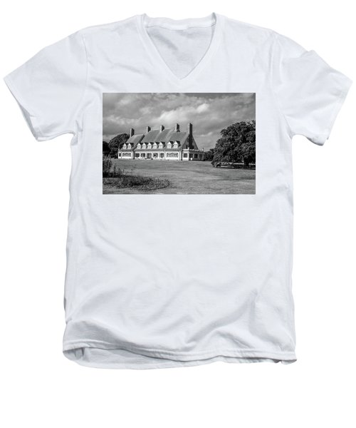 Whalehead Club Men's V-Neck T-Shirt by David Sutton