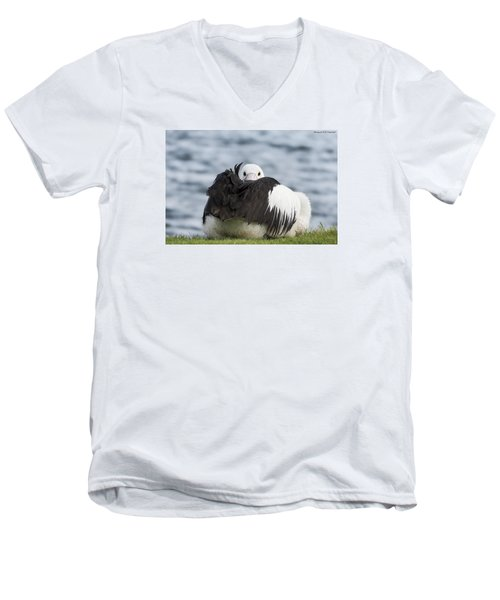 Men's V-Neck T-Shirt featuring the photograph What 011 by Kevin Chippindall