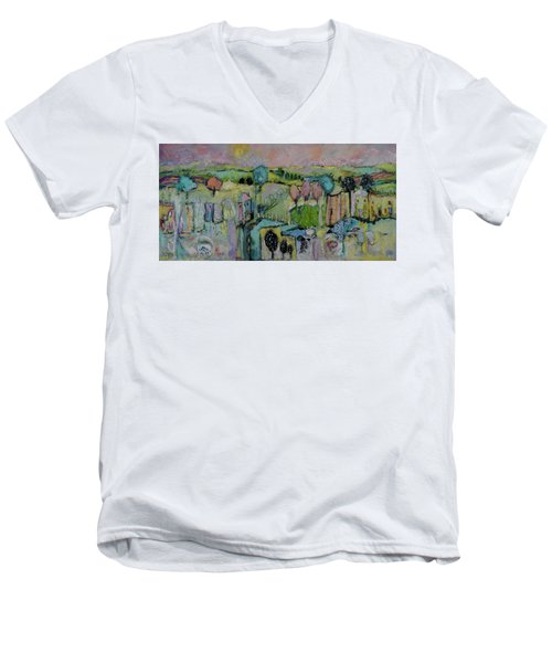 What A Bird Sees Men's V-Neck T-Shirt