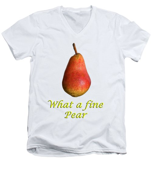 What A Fine Pear Men's V-Neck T-Shirt by Gillian Singleton