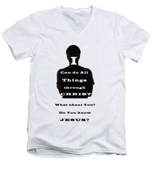 What About You? Men's V-Neck T-Shirt by Terry Wallace