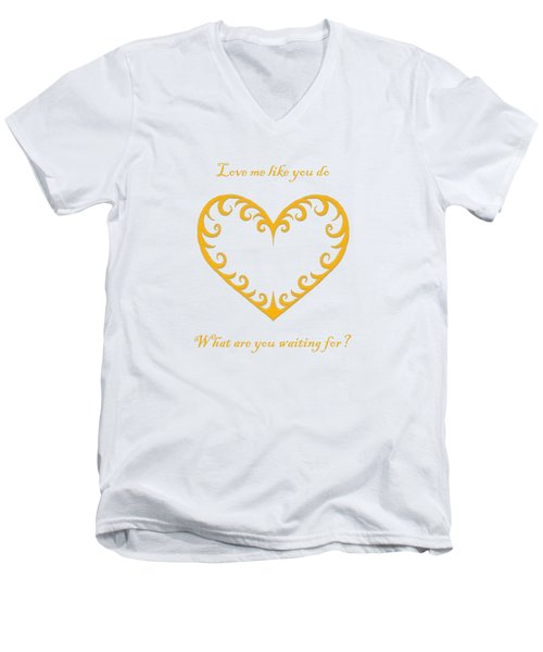 What Are You Waiting For? Men's V-Neck T-Shirt