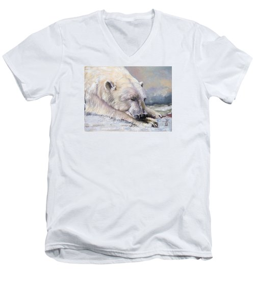 What Do Polar Bears Dream Of Men's V-Neck T-Shirt
