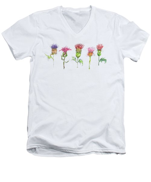 What Is It About A Thistle Fl006 Men's V-Neck T-Shirt