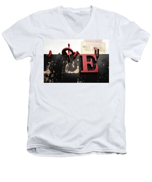 What Rhymes With E Men's V-Neck T-Shirt