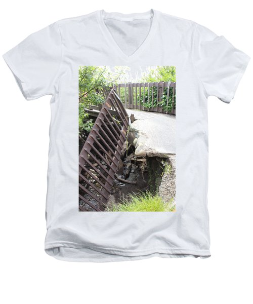 Men's V-Neck T-Shirt featuring the photograph What Storms Can Do by Marie Neder