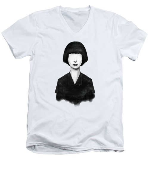 What You See Is What You Get Men's V-Neck T-Shirt by Balazs Solti