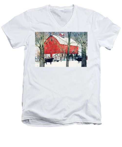 Men's V-Neck T-Shirt featuring the photograph Whatcha Looking At by Julie Hamilton