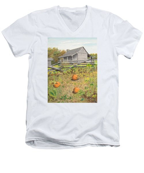What's Left Of The Old Homestead Men's V-Neck T-Shirt by Norm Starks