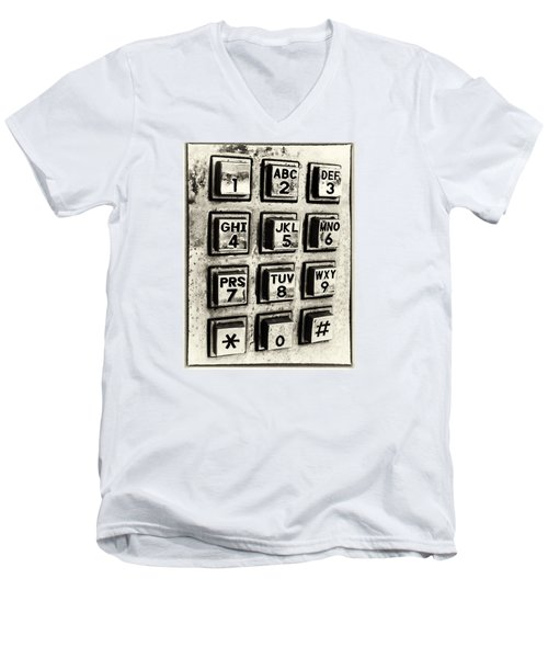 What's Your Number? Men's V-Neck T-Shirt by Caitlyn  Grasso