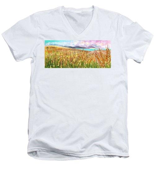 Wheat Landscape Men's V-Neck T-Shirt