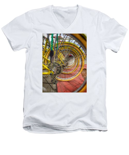 Wheels Within Wheels Men's V-Neck T-Shirt