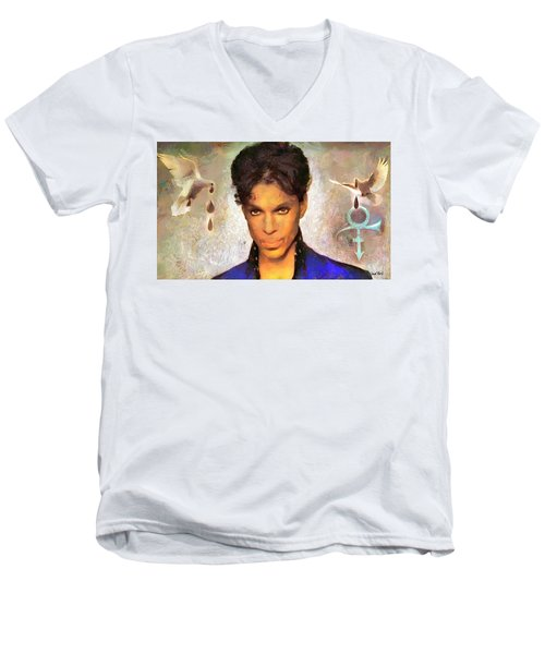 When Doves Cry Men's V-Neck T-Shirt by Wayne Pascall