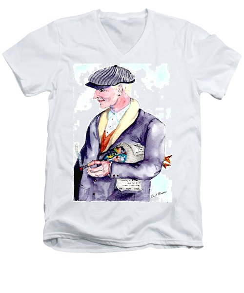 When Fish Were Wrapped In Newspaper Men's V-Neck T-Shirt