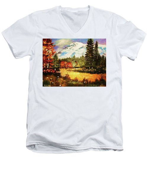 When Nature Exploits Her Colors Men's V-Neck T-Shirt
