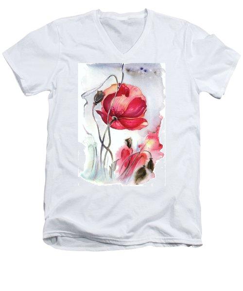 When The Mists Fall Down Men's V-Neck T-Shirt by Anna Ewa Miarczynska