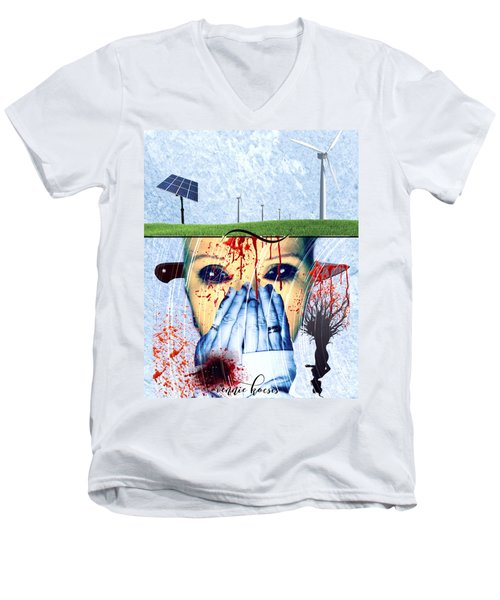 When They Take The Mind Men's V-Neck T-Shirt by Vennie Kocsis
