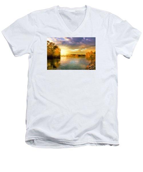 Where All The Rivers Run Wild Men's V-Neck T-Shirt