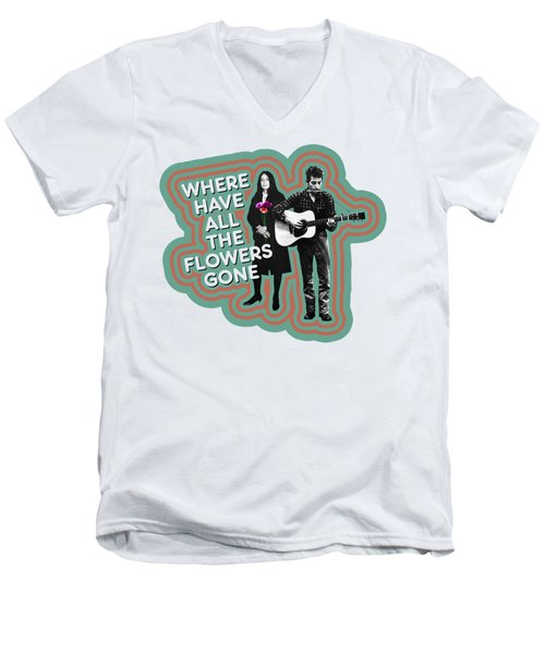 Where Have All The Flowers Gone Men's V-Neck T-Shirt