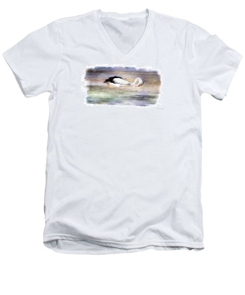 Men's V-Neck T-Shirt featuring the photograph Where Is That Dam Fish 01 by Kevin Chippindall