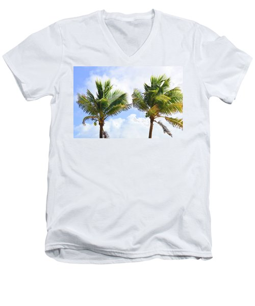 Where The Coconuts Grow Men's V-Neck T-Shirt