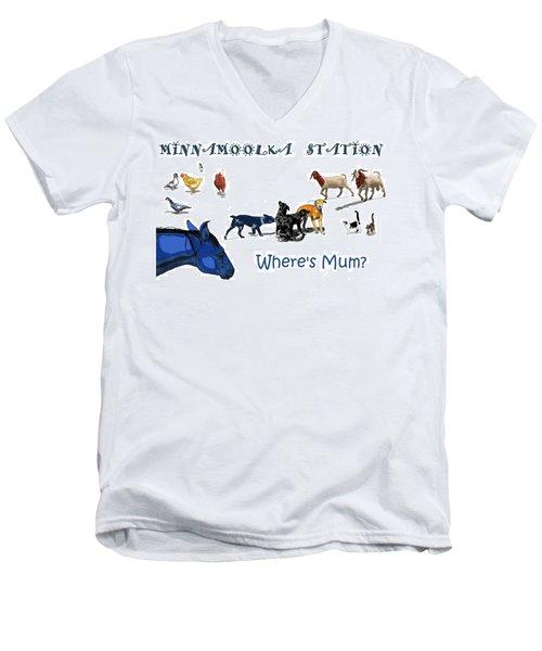 Where's Mum Men's V-Neck T-Shirt