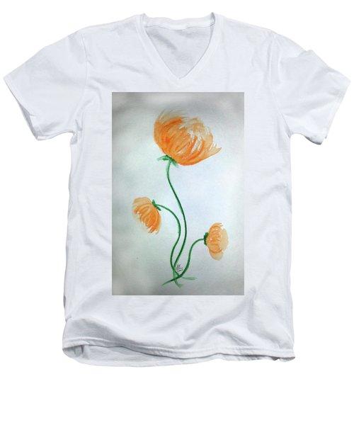 Whimsical Flowers Men's V-Neck T-Shirt