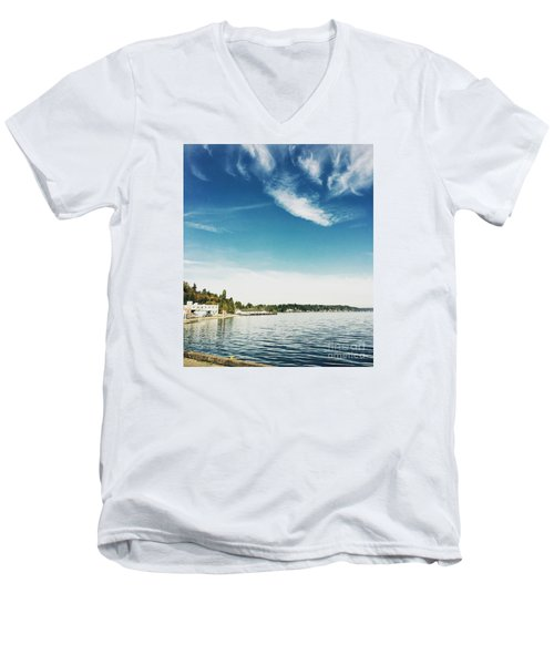 Whispy Northwest Days Men's V-Neck T-Shirt