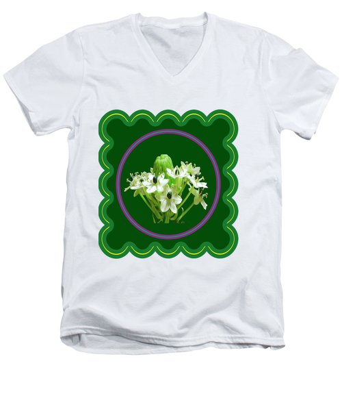 White Bunch Bud Flower Floral Posters Photography And Graphic Fusion Art Navinjoshi Fineartamerica P Men's V-Neck T-Shirt